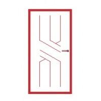 Межкомнатные двери глухие с узором