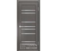 Межкомнатная дверь S53 Софт Тач Ясень Графит остекленная