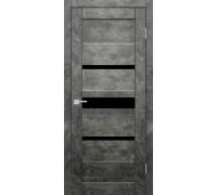 Межкомнатная дверь Джаз Бетон Графит остекленное