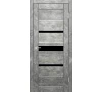 Межкомнатная дверь Джаз Бетон Светлый остекленное