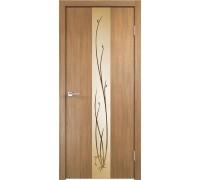 Межкомнатная дверь Веллдорис Smart Z2 Дуб золотой зеркало