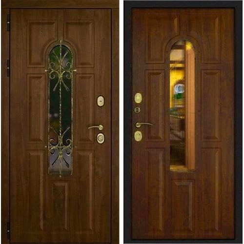 Входная дверь Дверной континент Лион Грецкий Орех