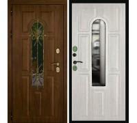 Входная дверь Дверной континент Лион Грецкий Орех/Альберо