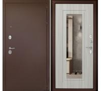 Входная дверь Дверной континент Рубикон Зеркало Сандал белый