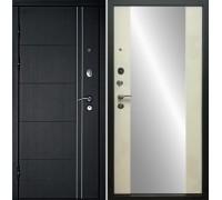 Входная дверь Дверной континент Тепло-люкс Зеркало Беленый дуб