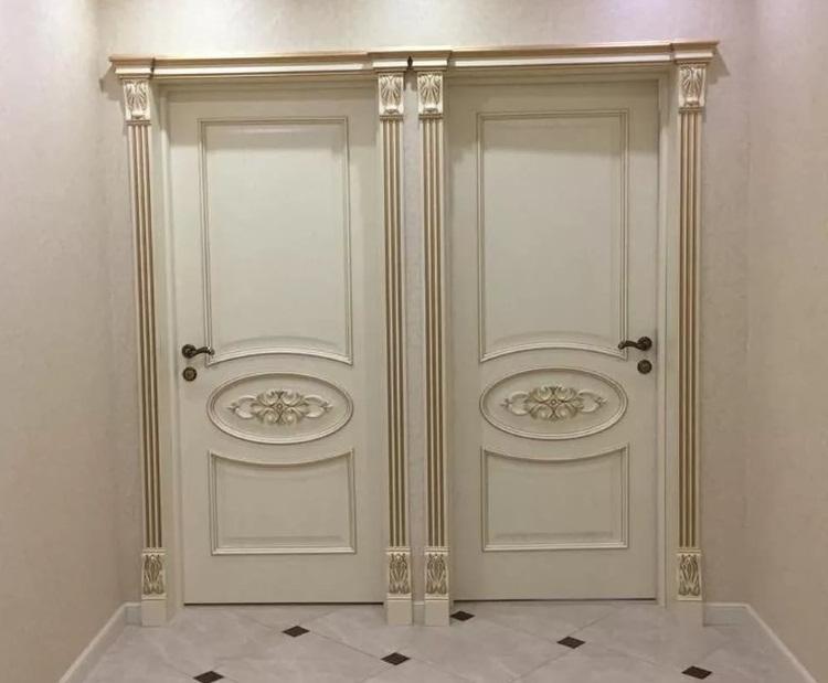 Межкомнатных двери с узором